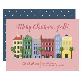 虹の列のチャールストンSCのクリスマスカード カード