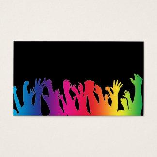 虹の効果の元気づける群集 名刺