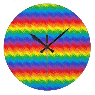 虹の動揺 ラージ壁時計