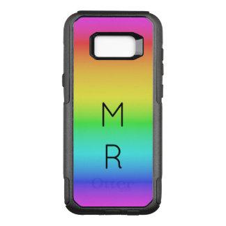 虹の勾配のカスタムなモノグラムの電話箱 オッターボックスコミューターSamsung GALAXY S8+ ケース