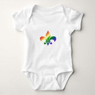 虹の勾配の(紋章の)フラ・ダ・リ ベビーボディスーツ