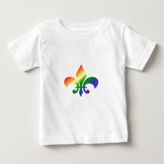 虹の勾配の(紋章の)フラ・ダ・リ ベビーTシャツ