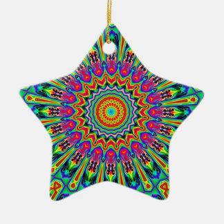 虹の勾配第1万華鏡のように千変万化するパターン セラミックオーナメント