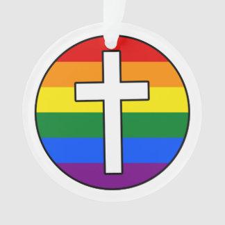 虹の十字のオーナメント(アクリル) オーナメント
