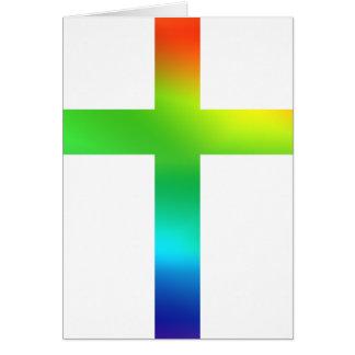 虹の十字 グリーティングカード