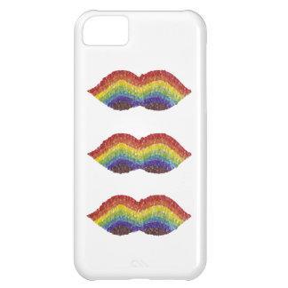 虹の口ひげの私電話5C箱 iPhone5Cケース