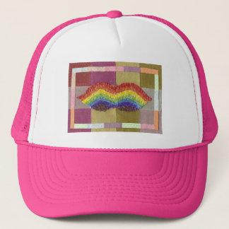 虹の口ひげの野球帽 キャップ