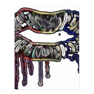 虹の唇のデザイン ポストカード