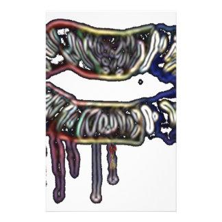 虹の唇のデザイン 便箋