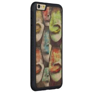 虹の唇Vape CarvedメープルiPhone 6 Plusバンパーケース