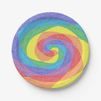 虹の回転の紙皿 ペーパープレート