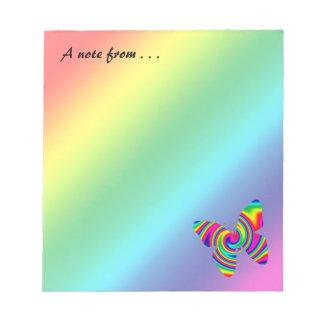 虹の回転の蝶 ノートパッド