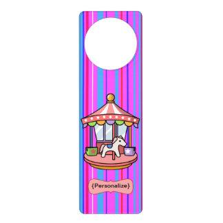 虹の回転木馬のドア・ハンガー ドアノブプレート