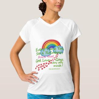 虹の基本的な暗いTシャツを見る度に Tシャツ