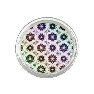 虹の外国の目のフラクタルの芸術パターン 指輪