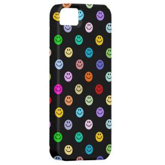 虹の多彩なスマイリーフェイスパターン iPhone SE/5/5s ケース