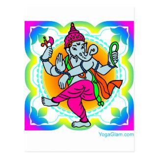 虹の多彩なデザインのGanesh ポストカード