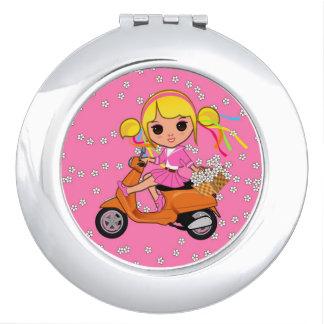 虹の女の子の花のスクーター