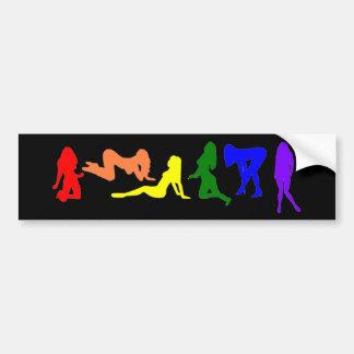 虹の女性ゲイプライド バンパーステッカー