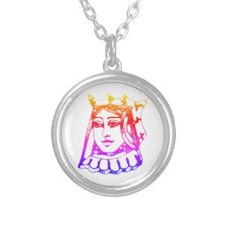 虹の女王 シルバープレートネックレス