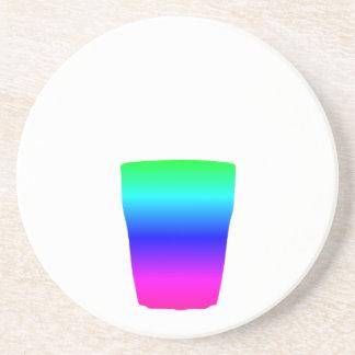 虹の子馬ガラス コースター