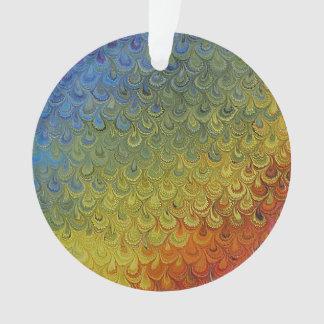 虹の孔雀の大理石 オーナメント
