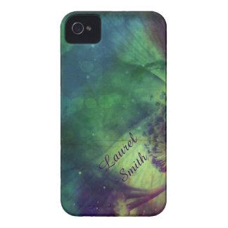 虹の宇宙の花のiphone 4ケースの*Personalize* Case-Mate iPhone 4 ケース