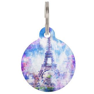 虹の宇宙パリ ペット ネームタグ