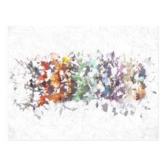 虹の宝石用原石 ポストカード