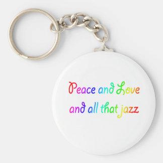 虹の平和愛およびすべてのそのジャズ キーホルダー