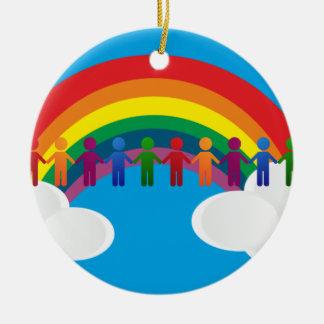 虹の平和旗 セラミックオーナメント