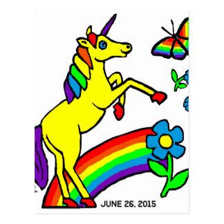 虹の平等のユニコーン ポストカード