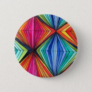 虹の幾何学的な光学芸術 5.7CM 丸型バッジ
