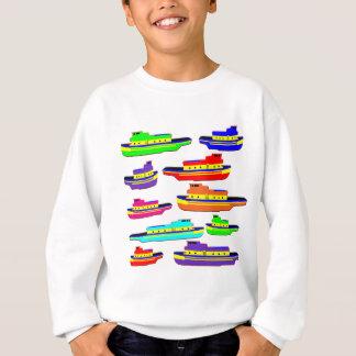 虹の引っ張り スウェットシャツ