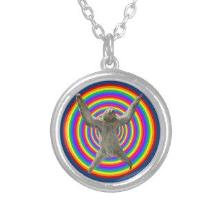 虹の怠惰 シルバープレートネックレス