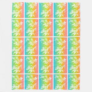 虹の情熱の花 フリースブランケット