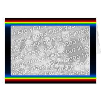虹の戯曲(広い) (写真フレーム) グリーティングカード