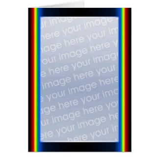虹の戯曲(高い) (写真フレーム) カード