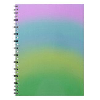 虹の抽象芸術、元の芸術、オルガナイザーのノート ノートブック