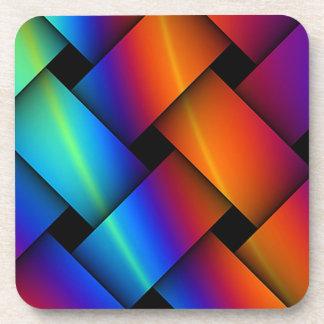 虹の斜子織 コースター
