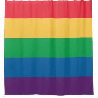 虹の旗のシャワー・カーテン シャワーカーテン