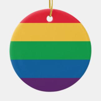 虹の旗のプライドのオーナメント セラミックオーナメント