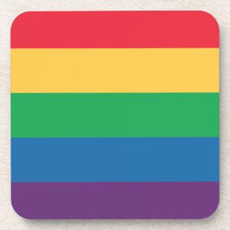 虹の旗のプライドのコースターセット コースター