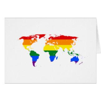 虹の旗の地図の挨拶状 カード