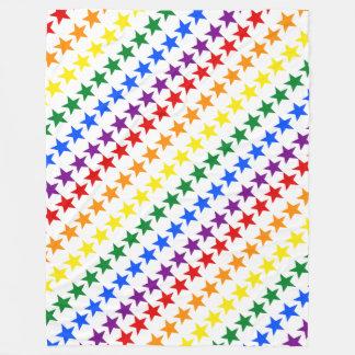 虹の旗の星 + あなたのアイディア フリースブランケット