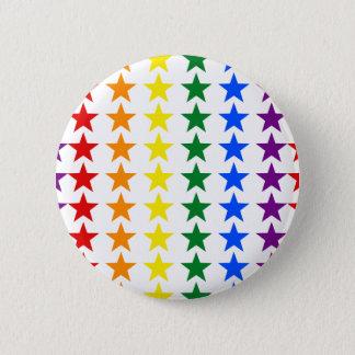 虹の旗の星 + あなたのアイディア 5.7CM 丸型バッジ