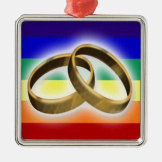 虹の旗の結婚指輪 メタルオーナメント
