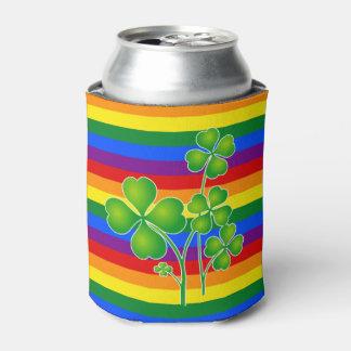 虹の旗の色及びクローバー + あなたのアイディア 缶クーラー