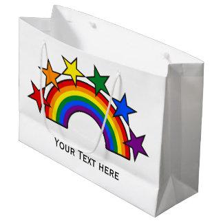 虹の旗はIIIを主演します + あなたのアイディア ラージペーパーバッグ