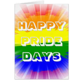 虹の旗ゲイプライドを破烈させる幸せなプライドの日 カード